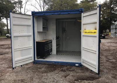 8×10 A/C Paint Locker